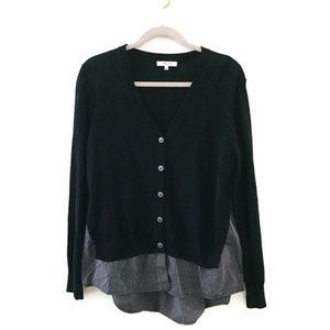 MADEWELL Black striped shirting Cardigan